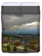 Fall Season In Happy Valley Oregon Duvet Cover