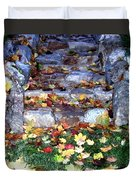 Fall Stairway Duvet Cover