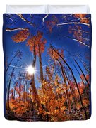 Fall Sun And Trees Duvet Cover