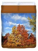 Fall Sunrise On Hackmatack Nwr Oaks Duvet Cover
