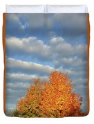 Fall Sunrise On Sugar Maple Along Route 31 Duvet Cover