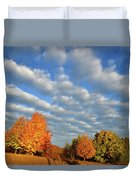 Fall Sunrise Over Hackmatack Nwr Duvet Cover