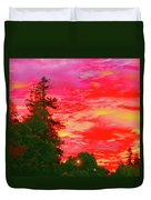 Fall Sunrise Duvet Cover