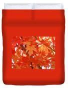 Fall Tree Art Autumn Leaves Red Orange Baslee Troutman Duvet Cover