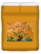 Fall Tree Art Print Autumn Leaves Duvet Cover