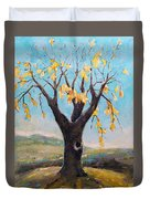Fall Tree In Virginia Duvet Cover by Becky Kim