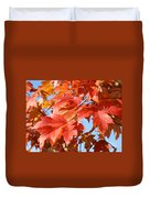 Fall Tree Leaves Art Prints Blue Sky Autumn Baslee Troutman Duvet Cover