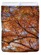 Fall Tree With Star Burst Duvet Cover