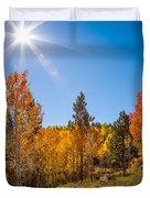 Fall Trees Duvet Cover
