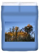 Fall Trees Reflected Duvet Cover