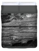 Fallen Black And White Trees And Lines In Nature Duvet Cover