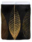 Fallen Gold II Autumn Leaves Duvet Cover