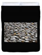 Fallen Leaves On A Street At Autumn Duvet Cover