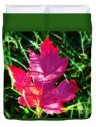 Fallen Maple Leaf Duvet Cover