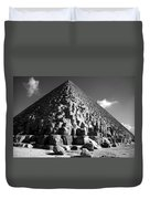 Fallen Stones At The Pyramid Duvet Cover
