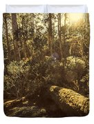 Fallen Tree In Foliage Duvet Cover