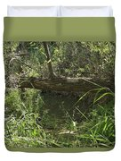 Fallen Tree In Peters Canyon Duvet Cover