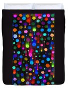 Falling Balls Of Color Duvet Cover