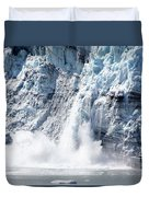 Falling Ice In Alaska Duvet Cover