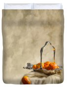 Falling Oranges Duvet Cover