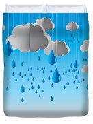 Falling Rain Duvet Cover