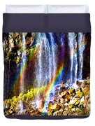 Falling Rainbows Duvet Cover