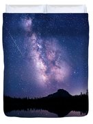Falling Star Over The Sierras Duvet Cover