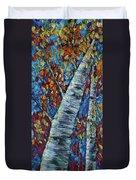 Falll In Rockies - Left Panel Duvet Cover