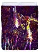 Fallow Deer Doe Fawn Hirsch Young  Duvet Cover