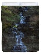 Falls At 6 Mile Creek Ithaca N.y. Duvet Cover