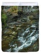 Falls Creek Gorge Trail Duvet Cover