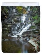 Falls Creek Gorge Trail Reflection Duvet Cover