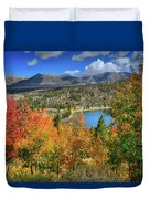 Fall's Finery At Rock Creek Lake Duvet Cover