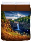 Falls From Up High Duvet Cover