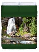Falls Glacier National Park1 Duvet Cover