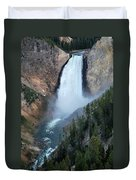 Yellowstone National Park Waterfalls Duvet Cover