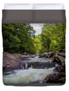 Falls In The Mountains Duvet Cover