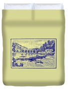 Falls Of The Schuylkill And Fort St Davids 1794 Duvet Cover