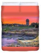 Falls Park Sunset Duvet Cover