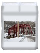 Falls Village Bridge 1 Duvet Cover