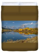 Falltime At Oxbow Bend Duvet Cover