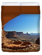 False Kiva Moab Utah Duvet Cover