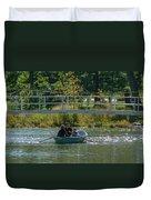 Family Boating If Forest Park Duvet Cover