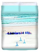 Family Day At Beach Duvet Cover