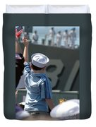 Family Members Welcome Home The Sailors Duvet Cover