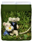 Family Mouse On The Spring Meadow .1. Duvet Cover