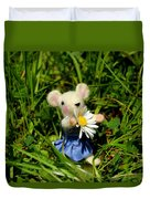 Family Mouse On The Spring Meadow Duvet Cover