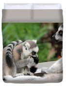 Family Of Lemurs Duvet Cover