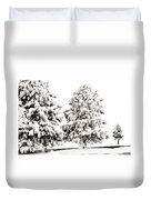 Family Of Trees Duvet Cover
