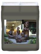 Family Sculpture Duvet Cover